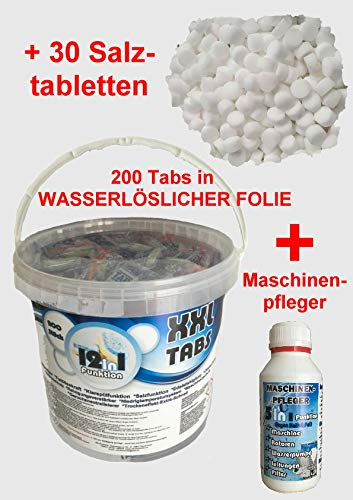 NM 200 Pastillas para lavavajillas + 1 MP + Sal spültabs ...