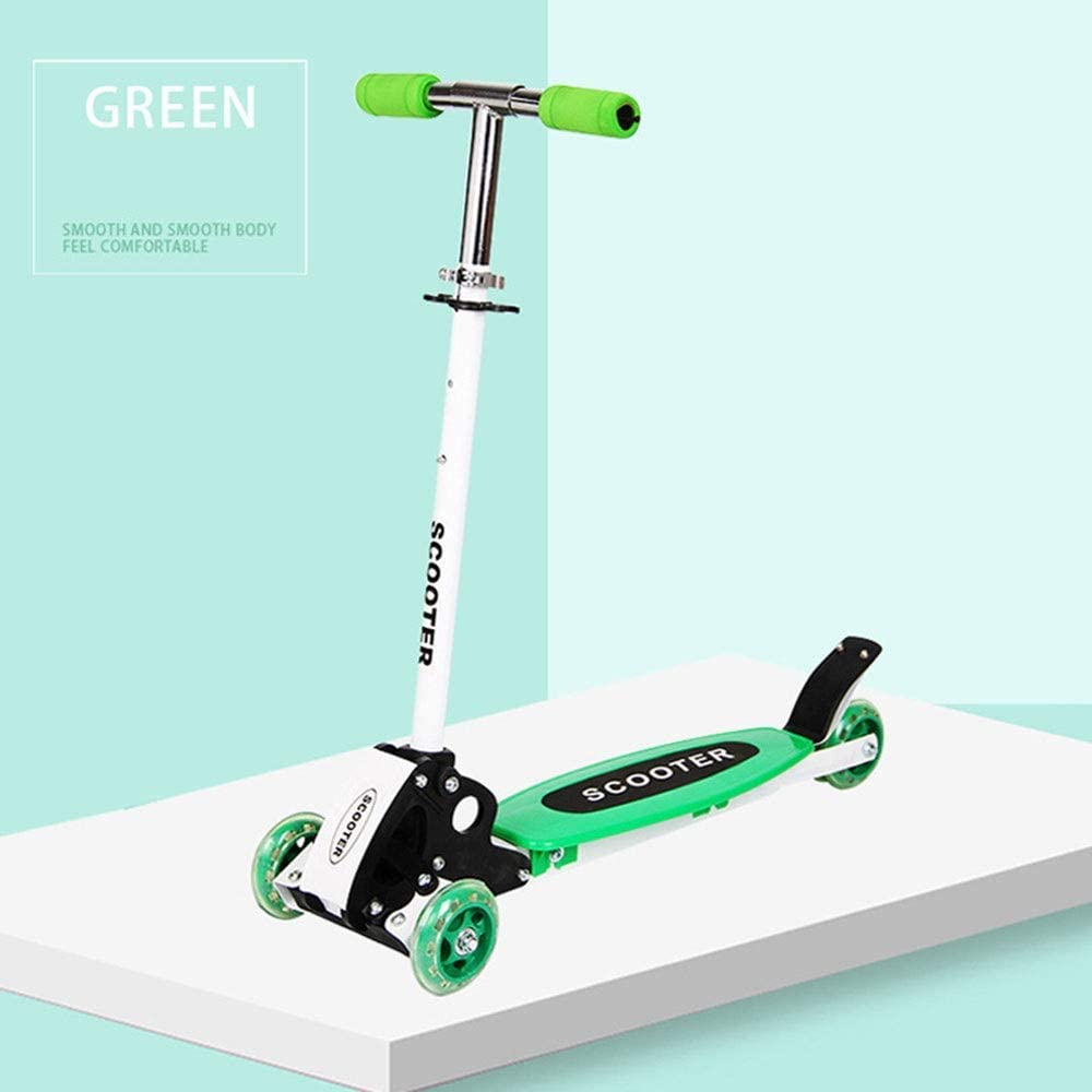 Hkkint 子供用三輪スクーター、PUリフト、子供用プーリー自転車、子供用ギフトに最適 ( Color : 緑 )