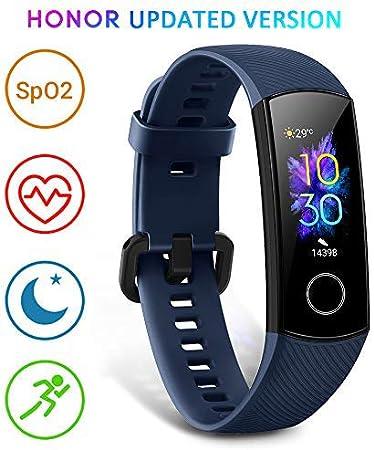HONOR Band 5 smartwatch,Pulsera de Actividad Inteligente Reloj Impermeable IP68 con Pulsómetro Monitor de Actividad Deportiva Fitness Tracker con Podómetro Azul (Versión Global)