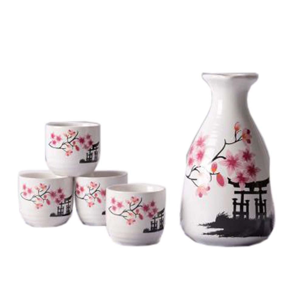 FANCY PUMPKIN Creative Sake Rice Wine Pitcher Cups Sets for Japanese Restaurant, 05