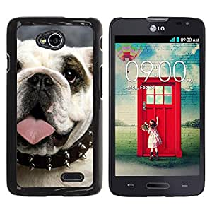 PC/Aluminum Funda Carcasa protectora para LG Optimus L70 / LS620 / D325 / MS323 English British Bulldog Symbol Dog / JUSTGO PHONE PROTECTOR