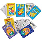 Classic Card Games set, Pack includes – Hearts – Old Maid – Go Fish – Games, For Kids and Adults alike, By 4E's Novelty,