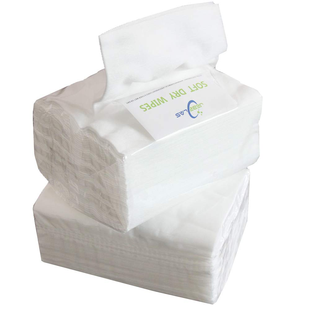 Facial Cleaning 50 Count//package Jebblas Dry Baby Wipes Ultra-Soft Cleaning Cloth Unscented Paper Towels Super Gentle and Absorbent For Baby