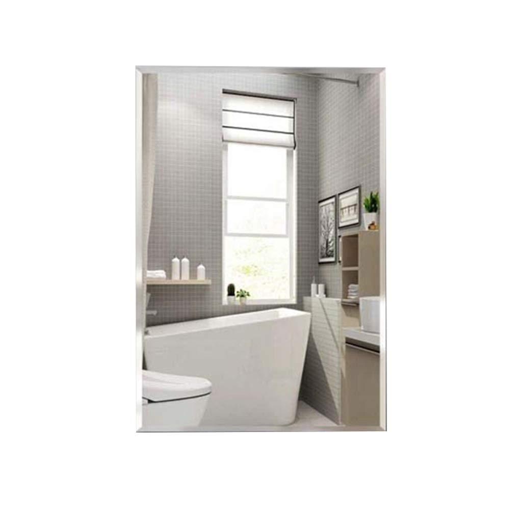 GOY Frameless Bathroom Mirror Modern Minimalist Wall Mounted Home Hotel Bathroom Makeup Mirror for Living Room Or Bathroom (Color : A, Size : 6080CM)