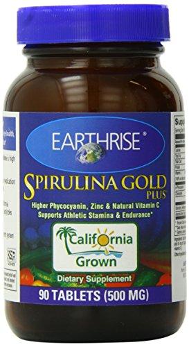 Earthrise Spirulina Gold Plus Tablets, 90 Count