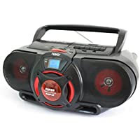 Naxa Compact Portable Stereo Boombox with Cd Player & Tape Cassette Recorder, Digital AM/FM Radio Tuner & Mega Bass Reflex Stereo Sound System Plus 6ft Aux Cable to Connect Any Ipod, Iphone or Mp3 Digital Audio Player