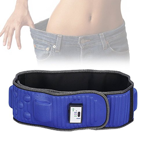 Rxlife Electric Waist Trimmer Belt with x5 Slimming Effect Magnet Stomach Wraps for Weight Loss Massage Fitness For Men Women Blue (Slimming Massage Belt)