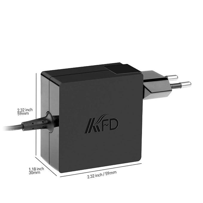KFD 45W Adaptador Cargador Portátil para ASUS Zenbook UX305 UX21A UX31A UX360UAK T300LA TX201LA X553M X553MA X453m X453MA F553M UX305UA Vivobook S200E ...