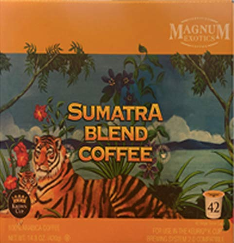 Magnum Exotics Sumatra Blend 100% Arabica Coffee 42 Count Keurig K-Cups The Finest Arabica Coffee!