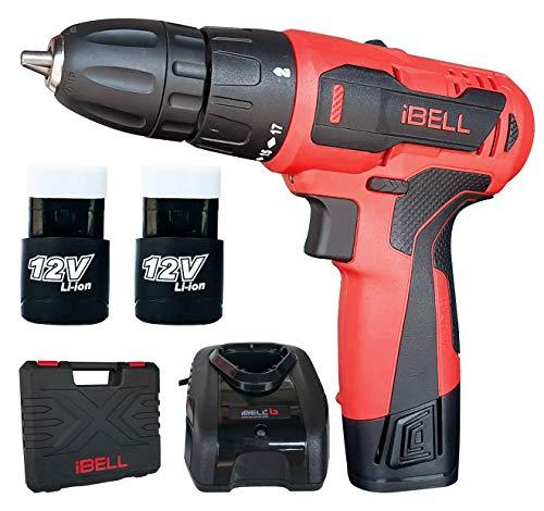 iBELL Cordless Drill Driver CD12-74, 12-Volts, 2 Battery+BMC Box 1
