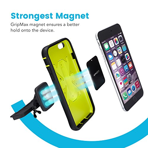APPS2CAR-Magnetic-Universal-CD-Player-Car-Phone-Mount-Car-Phone-Mount-Universally-Compatible-w-Android-iPhone-X-8-8-Plus-All-In-Car-CD-Players-with-Magnetic-Phone-Car-Mount-Magnets