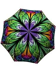 LA BELLA UMBRELLA Peacock Designer Unique Travel Art Umbrella in Stylish Gift Box – Automatic/Manual/Stick