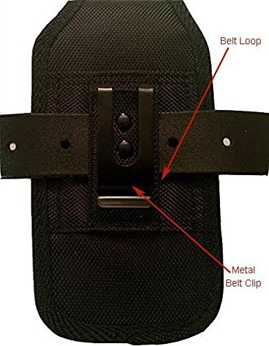 For Samsung Galaxy J3 / S7 / S6 / S6 Edge / S5 Reiko Rugged Heavy Duty Pouch Case W/ Black Metal Belt Clip (Fits With Silicone / Thin Hybrid Case On) and Zoomazig Stylus by Zoomazig (Image #2)