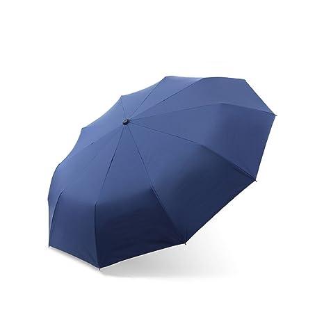 Automático Abierto Simple Paraguas Doble Refuerzo Grande protección contra Rayos Paraguas Tres Paraguas Plegable para Hombres