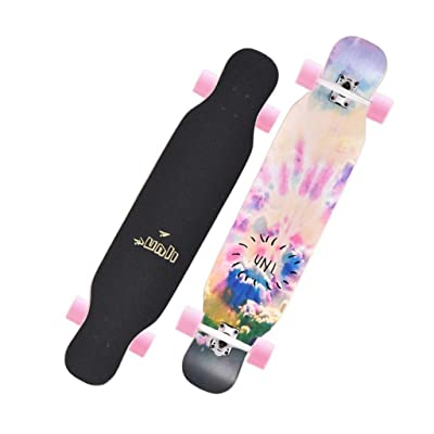 Aniseed Skateboards Cruiser Longboard Skateboard Deck Complete Colorful Double Kick 9.1-Inch X 42.0-Inch : Sports & Outdoors