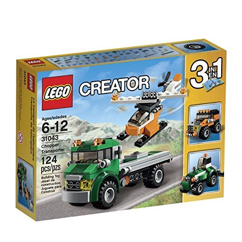 LEGO Creator Chopper Transporter 31043 3-in-1 Model Rebuilds Into A Rugged Tractor or A Robust Off-Roader. Order Now! With E-book Gift@