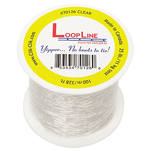 Clear LoopLine (328 ft. long) for Clik-Clik Magnetic Hanging System by Clik-Clik Systems, Inc.