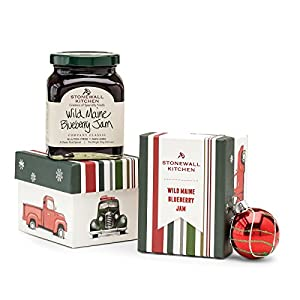 Stonewall Kitchen Jam Collections and Gift Sets - Multiple Flavors and Options (Blueberry, 1 Pack Holiday Gift Box)