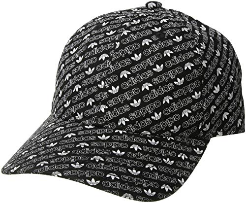 adidas Men's Originals Relaxed Strapback Cap, black/white Monogram, One - Hat Monogram