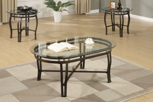 3-piece Luxury Glass Coffee Table & End Tables Set