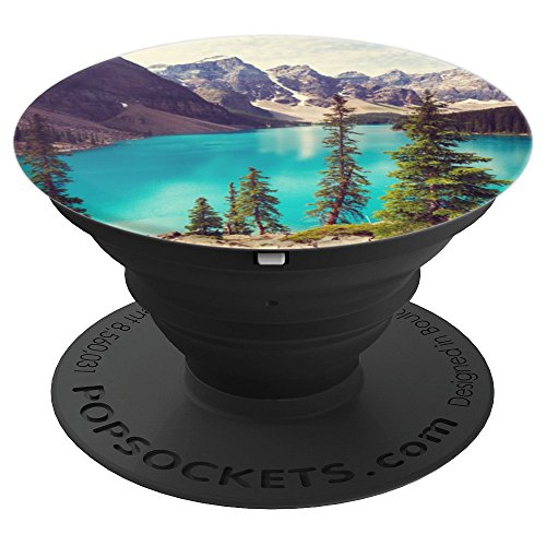Moraine lake Pine Trees Mountains - PopSockets Grip and Stand for Phones and Tablets