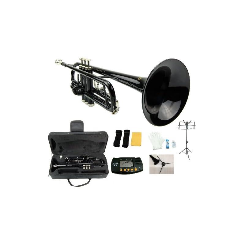 Merano B Flat Black / Silver Trumpet wit
