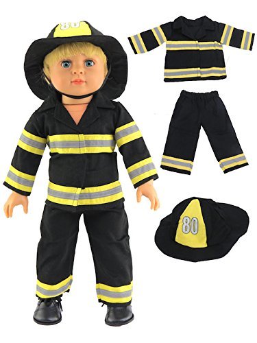 Fireman Outfit | Fits 18 American Girl Dolls, Madame Alexander, Our Generation, etc. | 18 Inch Doll Clothes