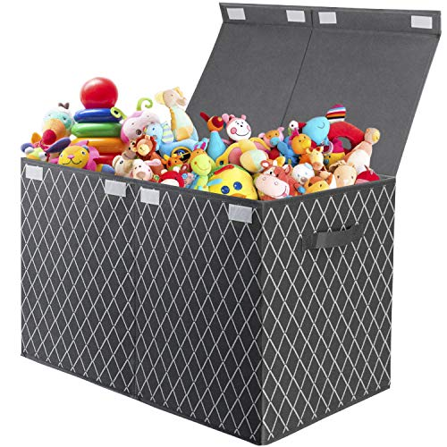 Toy Box Chest with Flip-Top Lid – Foldable...
