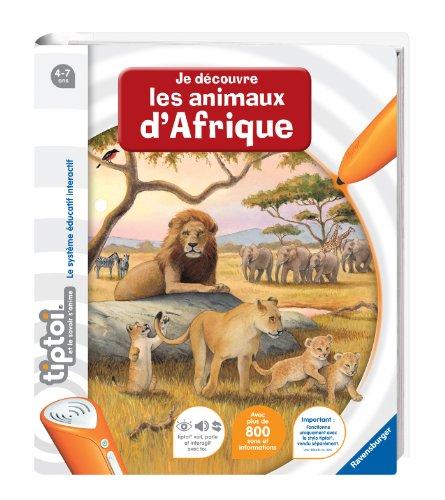 Ravensburger - 00592 - Jeu Éducatif Électronique - Tiptoi - Livre - Je Découvre les Animaux d'afrique