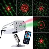 CHINLY Laser Lights LED Projector RGB Stage Rotating Lights Strobe Light Sound Activated Lights for Stage Performance Dance Party Club Birthday Karaoke