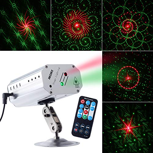 CHINLY Party Lights DJ Disco Stage Laser Light Sound Activated Led Projector for Christmas Halloween Decorations Gift Birthday Wedding Karaoke KTV Bar]()