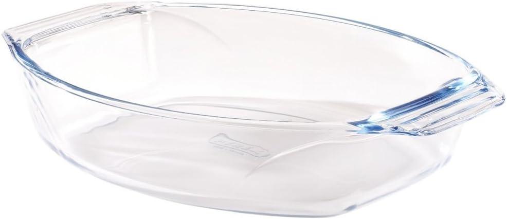 Bandeja oval 35 x 24 cm, cristal pírex resistente.: Amazon.es ...