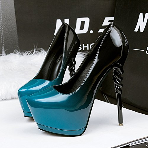 Toe Aisun Nightclub Stiletto Shoes Super Women's Pointed On Blue Sexy Court Slip High Heel 6IqwIEr