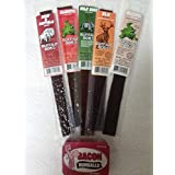 Buffalo Bob Wild Game Jerky 5 Piece Samper with Bacon Gumballs