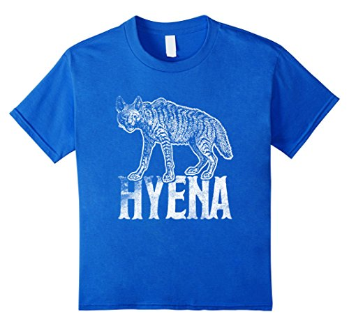 Hyena Costumes (Kids Love Hyenas Funny Tee T-Shirt Cute Hyena Silhouette Gift 6 Royal Blue)