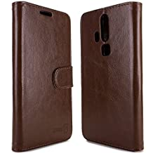ZTE Axon Pro Wallet Case, CoverON® [Executive Series] Synthetic Leather Flip Folio Cover Pouch Case and Screen Protector For ZTE Axon Pro - Brown