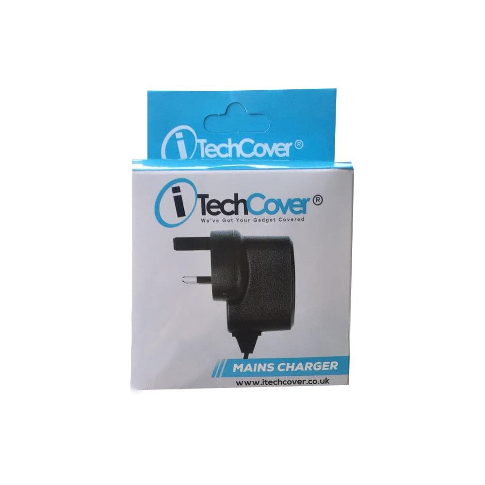 8 HD Display iTechCover/® 3 Pin UK Mains // Wall Charger Cable Lead for All-New Fire HD 8 Tablet with Alexa ROHS 16 GB Tablet // - CE UK Approved Micro USB