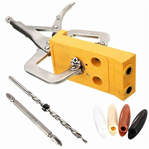 Pocket Hole Jig Woodwork Guide Repair Carpenter Kit Woodworking Tool by SPK603 (Image #2)