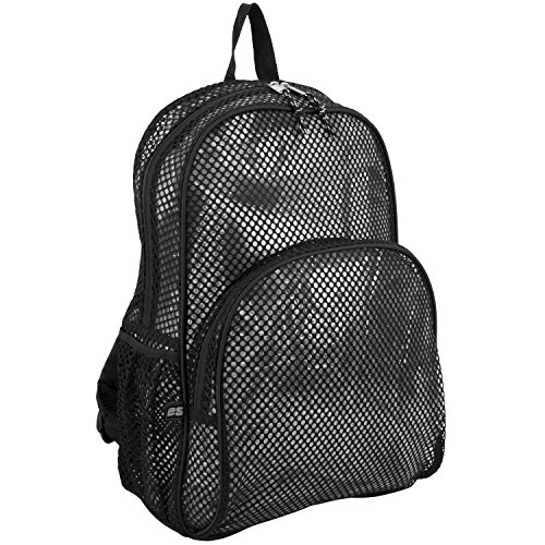 eastsport-mesh-backpack-black