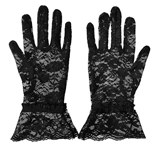 Simplicity Bridal Gloves Lace Wrist Length Special Occasion Wear, (Black Lace Adult Gloves)