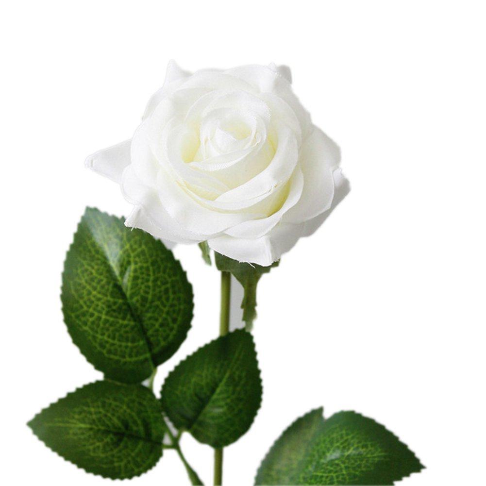 Lot de 5 roses blanches artificielles Outflower Pour mariage d/écoration dint/érieur 43*7CM Red