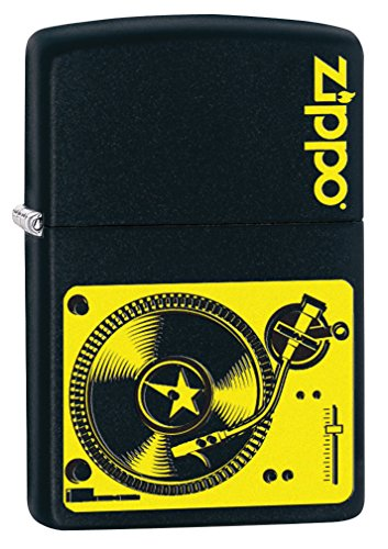 Zippo Custom Lighter: Music Turntable - Black Matte 78753
