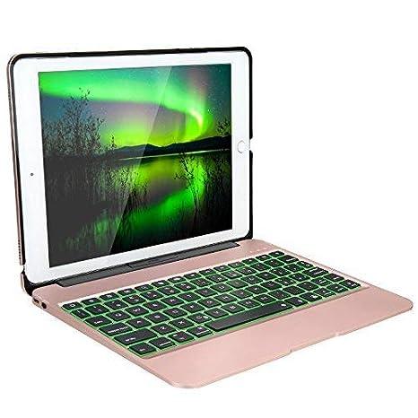 iEGrow Funda de Teclado iPad Air 2 para Modelo A1566 / A1567 y iPad Pro 9.7