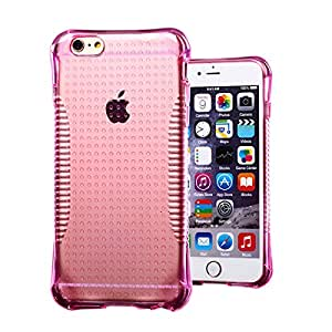 New arrival Slim Colorful Non-slip TPU Soft Silicone Case For iphone 6 4.7 inch --- Color:Pink