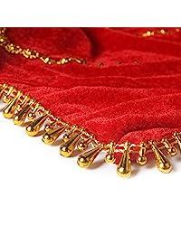 2 piezas decoración Danza pañuelo Octogonal Toalla Rojo Flor Arte wdsj-01