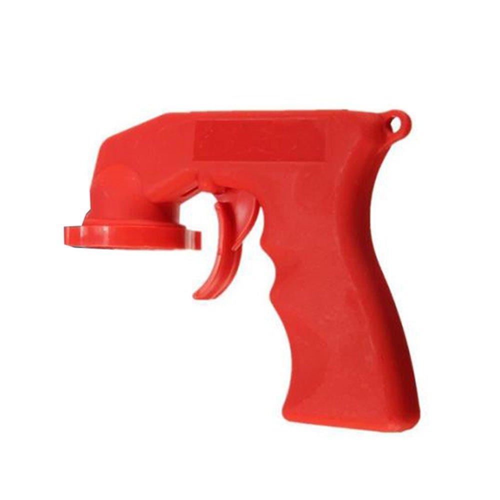 Leaftree Grip Paint Sprayer Handle Trigger Portable Red Plastic Parts Car