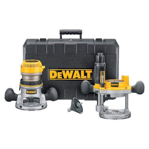DEWALT DW616PK 1-3/4 Horsepower Fixed Base Plunge Router Combo Kit
