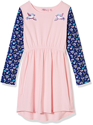A for Awesome Girls Long Sleeve Jersey Dress Large Orchid (Pretty Pink Orchid)
