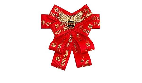 Neckchiefs Broche de Corbata de moño para Mujer Feliz Navidad ...