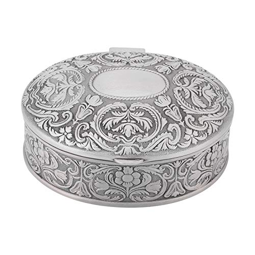 Wall of Dragon Jewelry Box Case for Bracelet Necklace Earring Display Oval Shape Flower Carved Jewellery Storage Organizer Home Ornament Beauty -